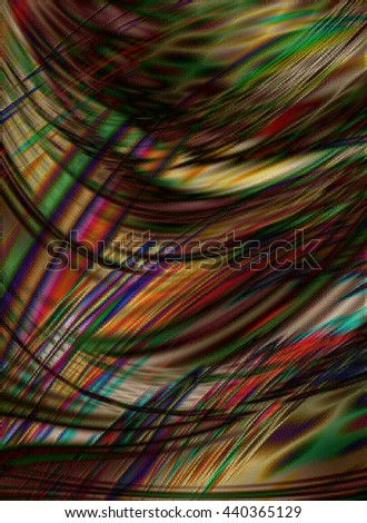 Abstract spotted background with randomly directed colored stripes - stock photo