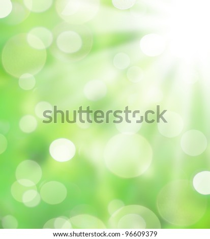 Abstract spring background with sunbeams