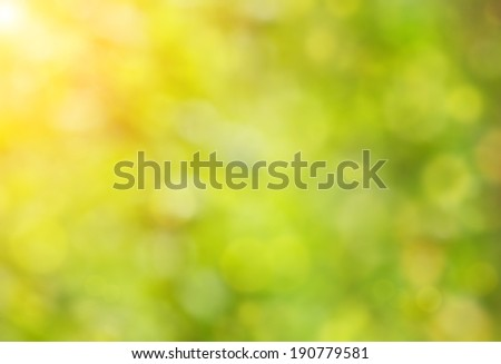 Abstract spring background with sunlight - stock photo