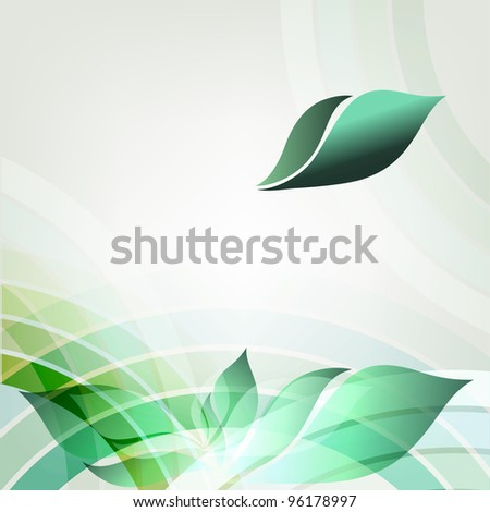 Abstract spring geometric background with place for text.