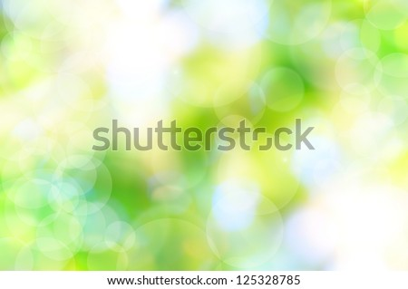 abstract spring green background and light reflect - stock photo