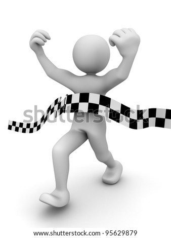 Abstract sprint winner (done in 3d) - stock photo