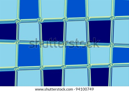 abstract square blue and yellow frames background - stock photo