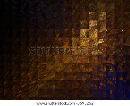 Abstract Square Dark Marble Background on Black - stock photo