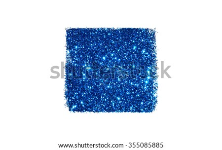 Abstract square of blue glitter sparkle on white background for your design