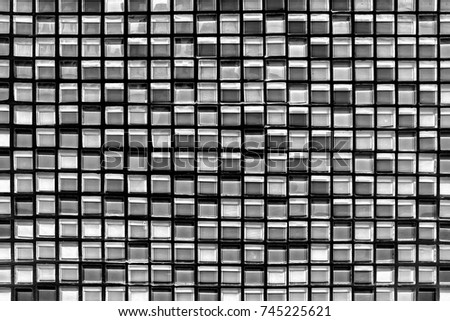 abstract square pixel mosaic wall background and texture