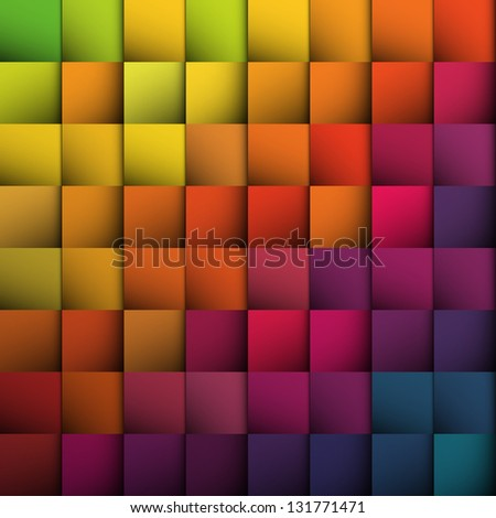 Abstract squares background. Raster version, vector file available in my portfolio. - stock photo