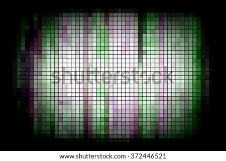 abstract squares mosaic grid and green color.illustration