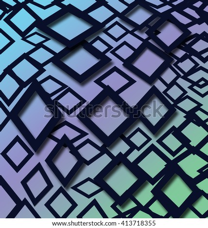 Abstract squares optical illusion design ideal for background and banner. - stock photo