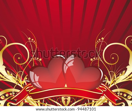 Abstract St. Valentine's day card with hearts.