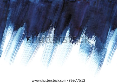 Abstract stain watercolor ;high resolution image, colors wet on dry paper - stock photo
