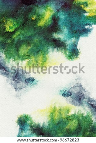 Abstract stain watercolor ,paint high-resolution - stock photo