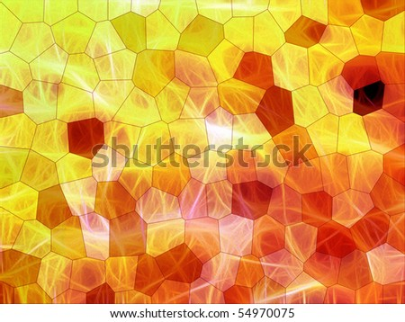 abstract stained glass background, raster artwork - stock photo