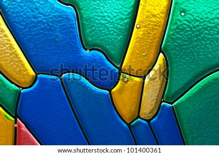 Abstract stained glass color background - stock photo