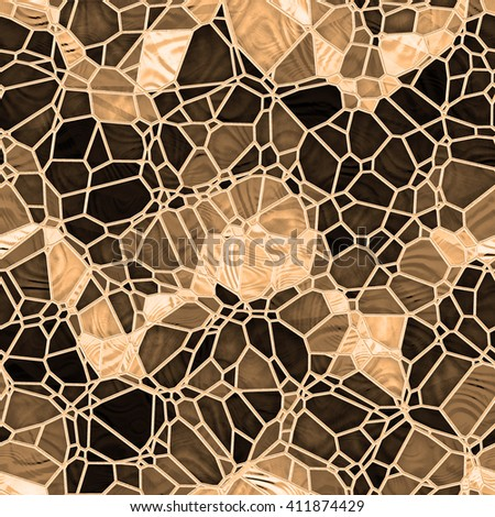 abstract stained glass seamless background - stock photo