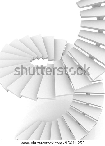 Abstract Staircase Background - 3d render - stock photo