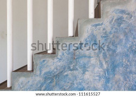 Abstract stairs in interior style