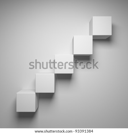 Abstract stairs of the cubes - stock photo