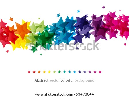 Abstract star colorful background (bitmap) - stock photo