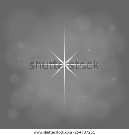 abstract star magic light sky bubble blur gray background - stock photo