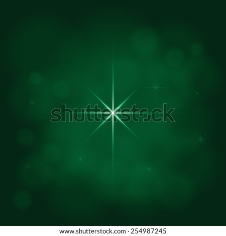 abstract star magic light sky bubble blur green poison emerald background - stock photo