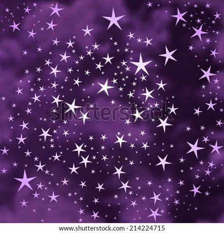 Abstract stars background - stock photo