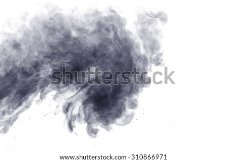 Abstract steam on a white background. Texture. Design element. Abstract art. The steam from the iron. Macro shooting.