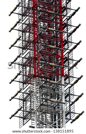 Abstract steel tower background close up - stock photo