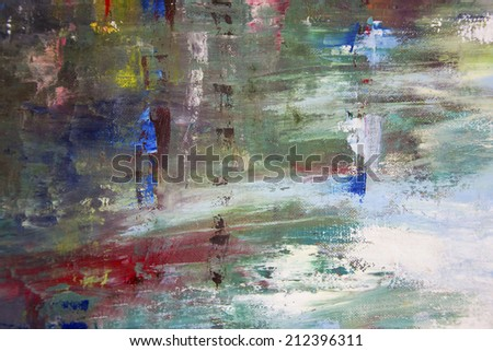 Abstract stripe pattern : paint oil colors on canvas