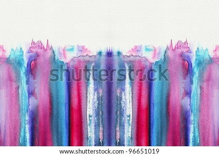 Abstract stripe watercolor ,high resolution image - stock photo