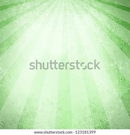 abstract striped background pattern design, dark and mint green background, retro style sunburst or sun beam shaft layout, vintage grunge background texture, grungy sponge colors dark and light green - stock photo