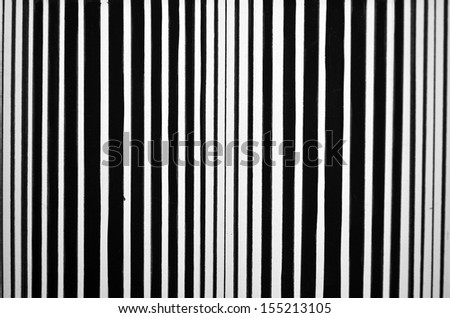 Abstract striped black and white painted background - stock photo
