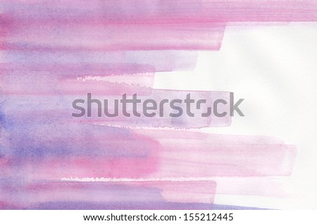 Abstract striped purple watercolor background - stock photo