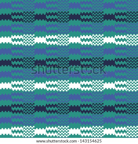 Abstract striped textured geometric sea waves. Seamless pattern.