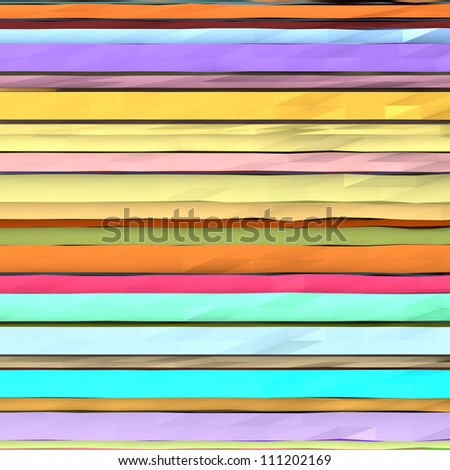 abstract striped wavy composition in multiple color - stock photo