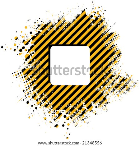 Abstract stripped yellow background with half tone dots - stock photo