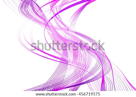 Abstract Structural Curved Pattern. Mauve Lines and Violet Waves. Raster. 3d Illustration - stock photo