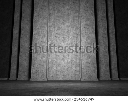 Abstract structure of the large vertical column - stock photo