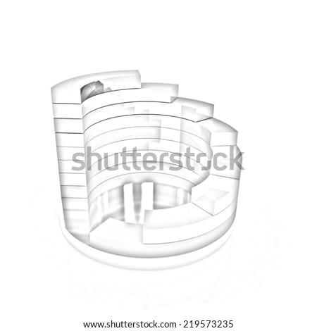 Abstract structure on a white background. Pencil drawing  - stock photo