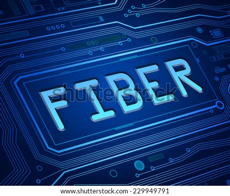 Abstract style illustration depicting printed circuit board components with a fiber concept. - stock photo