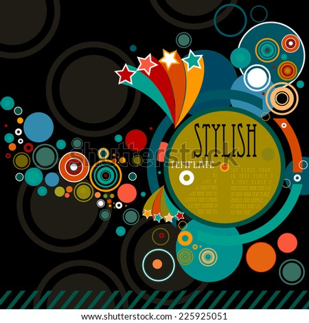 abstract stylish background with circles - stock photo