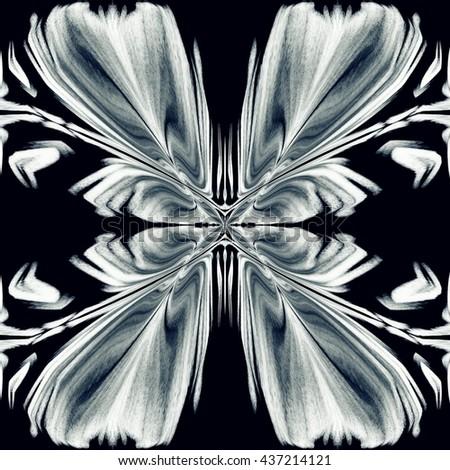 Abstract stylized butterfly illustration. Geometric ornament pattern - stock photo