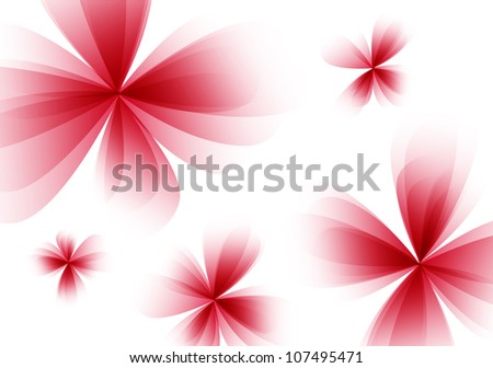 Abstract stylized floral background. Raster version - stock photo