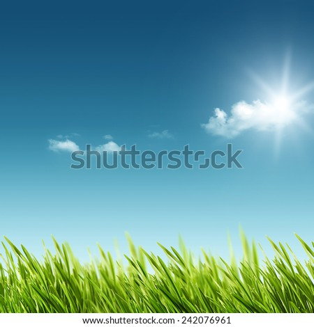 abstract summer and spring backgrounds for your design - stock photo