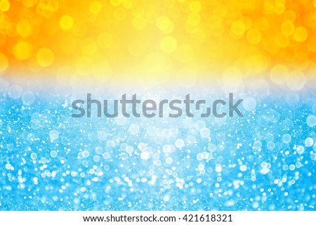 Abstract summer sunset or sunrise bokeh sparkle background over sea lake or ocean tropical beach pool water - stock photo