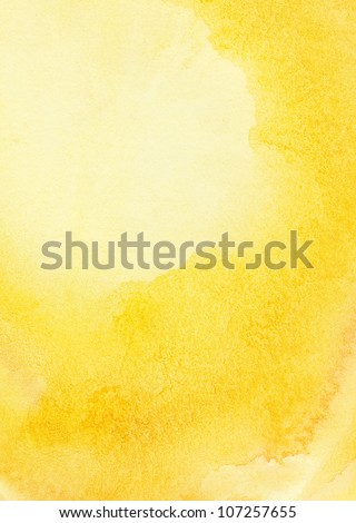 Abstract sun and sand watercolor background - stock photo