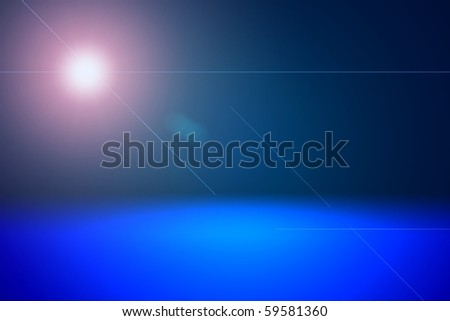 abstract sun and sea - stock photo