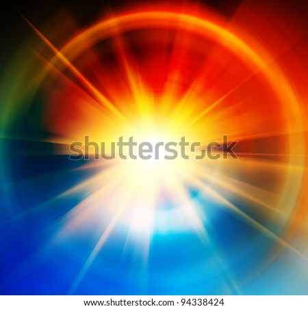 abstract sun background - stock photo