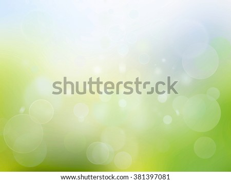 abstract sunny nature background with transparent circles and dots pattern