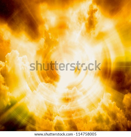 Abstract sunset background - stock photo